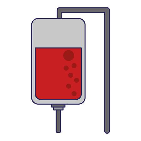 Blood bag symbol cartoon vector illustration graphic design