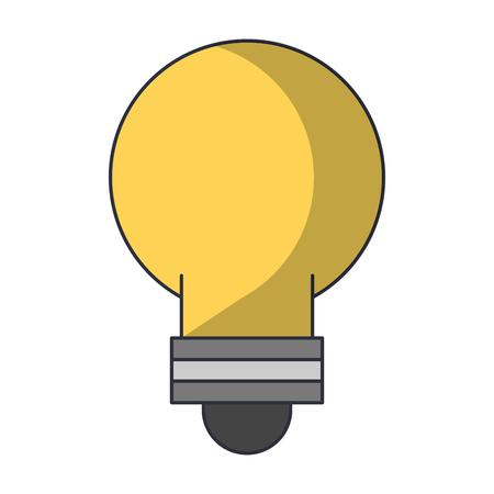 lightbulb idea cartoon vector illustration graphic design
