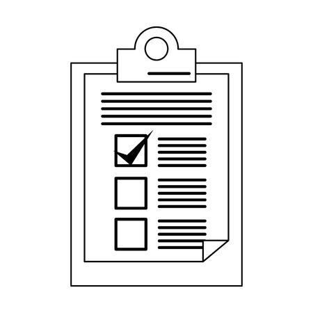 Clipboard checklist document symbol vector illustration graphic design 向量圖像