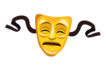 theater mask icon cartoon vector illustration graphic design