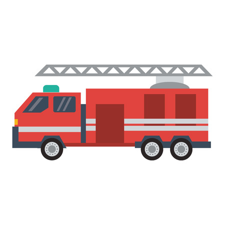 Firetruck vehicle isolated vector illustration graphic design