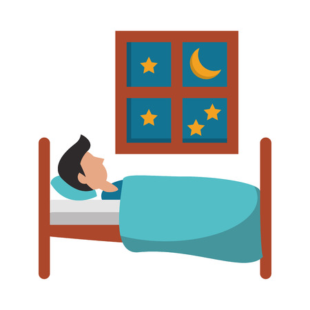 Sleeping and resting cartoons vector illustration graphic design