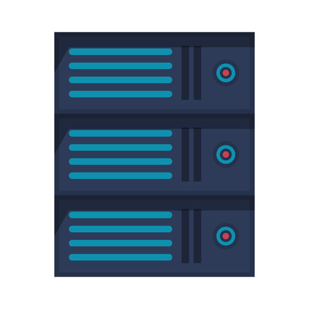 technlogy device cpu server storage tower cartoon vector illustration graphic design