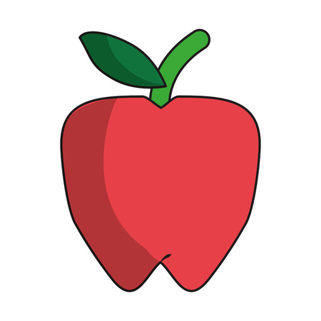 Apple fruit cartoon isolated vector illustration graphic design Ilustracja