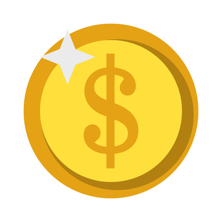 Money coin isolated symbol vector illustration graphic design Imagens - 122913506