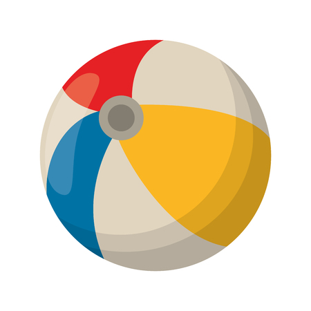 Beach ball cartoon isolated vector illustration graphic design
