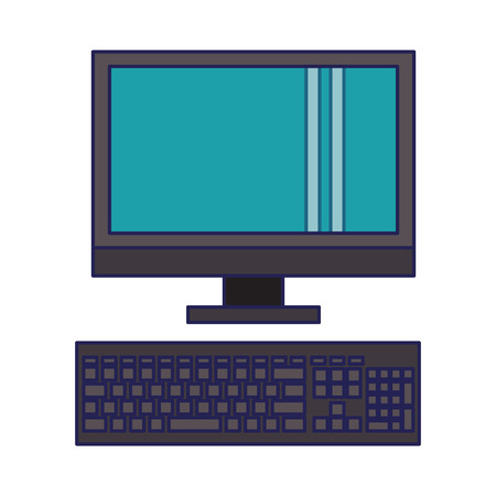 technology device computer pc cartoon vector illustration graphic design
