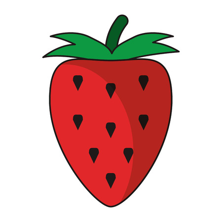 Strawberry fruit healthy food isolated vector illustration graphic design  イラスト・ベクター素材