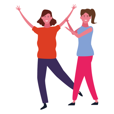 women friends smiling and having fun vector illustration graphic design
