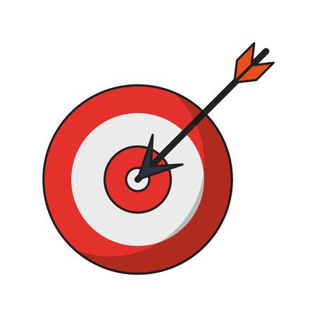 target shooting cartoon vector illustration graphic design
