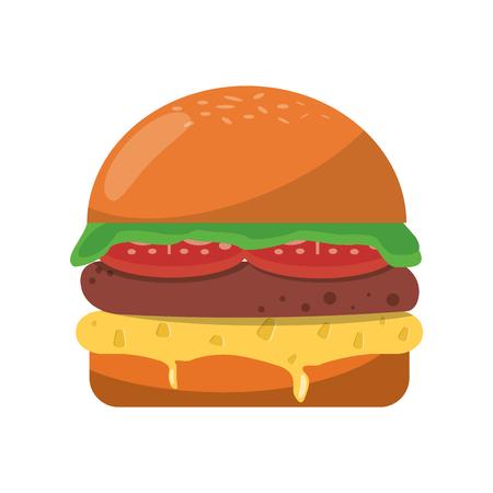 Hamburger fast food cartoon vector illustration graphic design