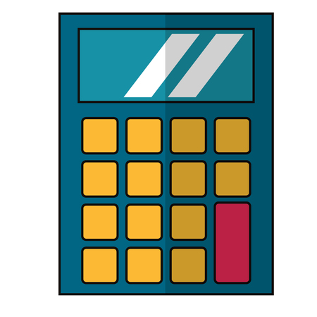 calculator icon cartoon isolated vector illustration graphic design