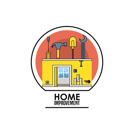 Home improvement tools emblem concept vector illustration graphic design