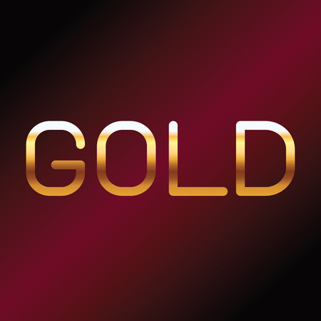gold font with red background Stock Illustratie