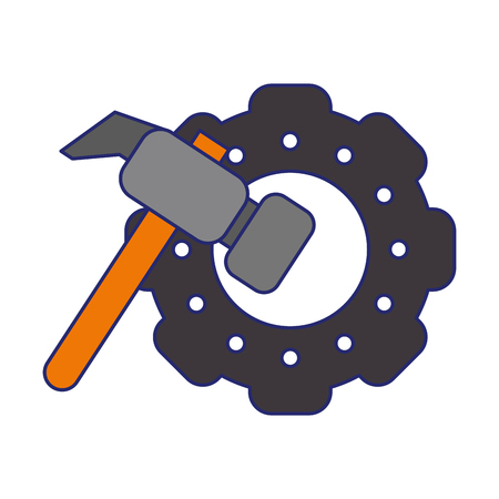 gears and tools icon cartoon vector illustration graphic design