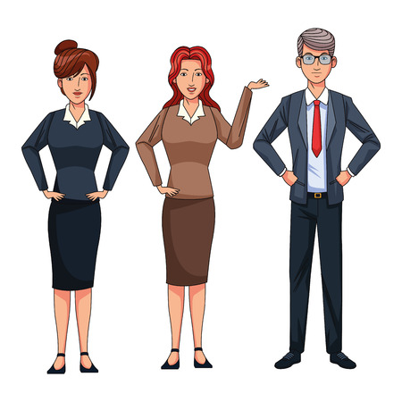 Les gens d'affaires avatar cartoon character vector illustration graphic design Vecteurs
