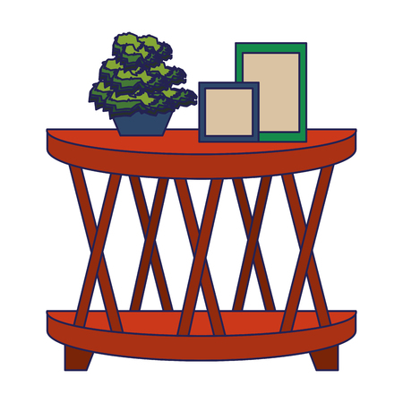 furniture concept wooden table cartoon vector illustration graphic design