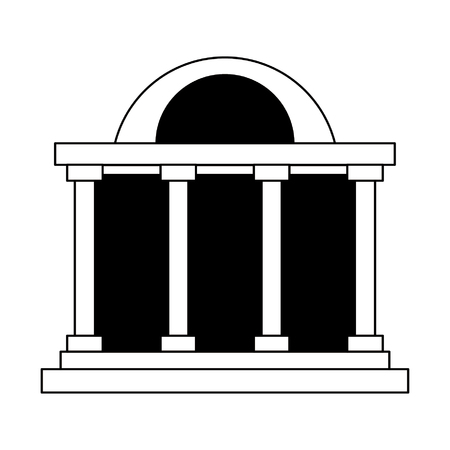 Bank building symbol isolated vector illustration graphic design 向量圖像