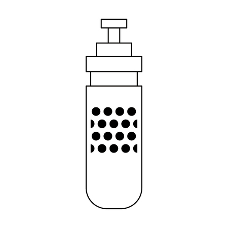 Thermo bottle cartoon isolated vector illustration graphic design Vectores