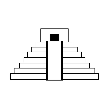 Mexican pyramid building symbol vector illustration graphic design Ilustração