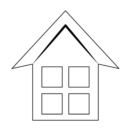 house silhouette icon cartoon vector illustration graphic design Иллюстрация
