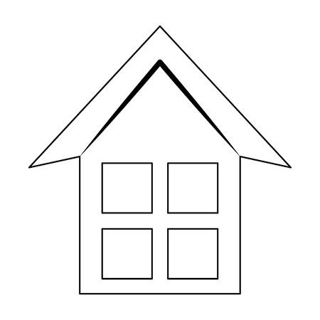 house silhouette icon cartoon vector illustration graphic design Illustration