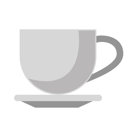 Coffee cup warm on plate isolated vector illustration graphic desing