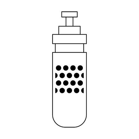 Thermo bottle cartoon isolated vector illustration graphic design Illustration