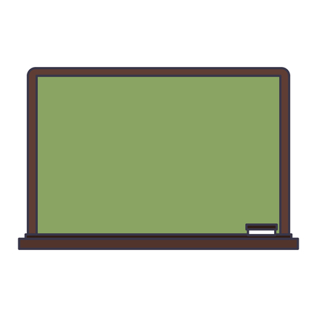 Blackboard and eraser isolated cartoon vector illustration graphic design