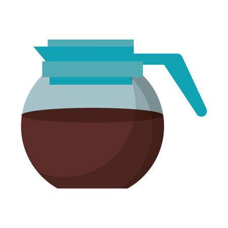 Coffee maker kettle glass vector illustration graphic design