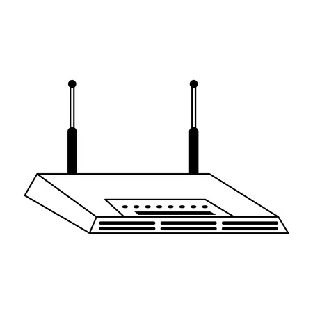 Wifi router device isolated symbol vector illustration graphic design