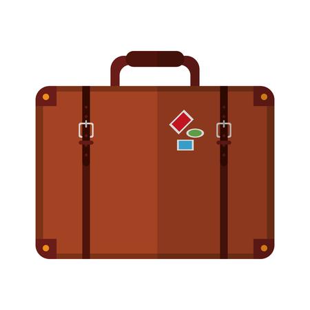 Travel suitcase symbol isolated vector illustration graphic design