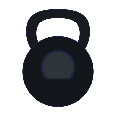 Fitness kettlebell symbol isolated vector illustration graphic design