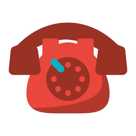 Vintage telephone communication device vector illustration graphic design