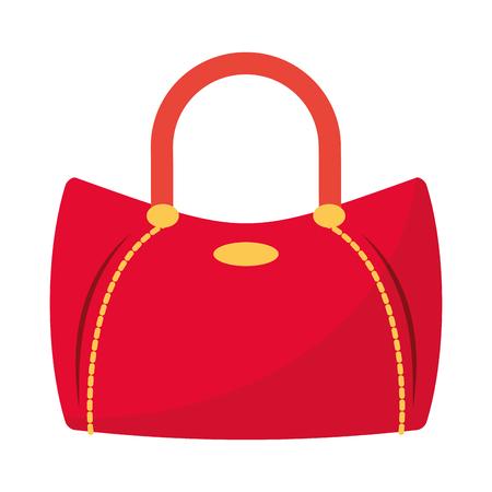 Diseño gráfico del ejemplo del vector aislado de la historieta del accesorio del bolso de la moda de las mujeres Ilustración de vector