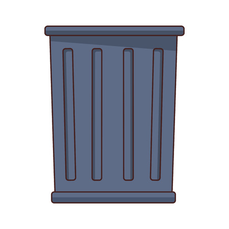 trash can icon cartoon isolated vector illustration graphic design Illustration