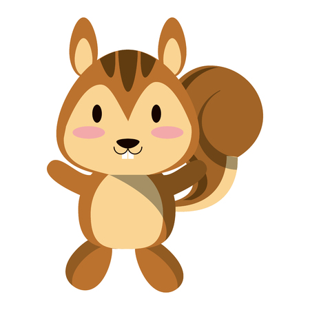 Cute squirrel smiling animal cartoon vector illustration graphic design