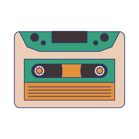 old music cassette symbol vector illustration graphic design Imagens - 124158298