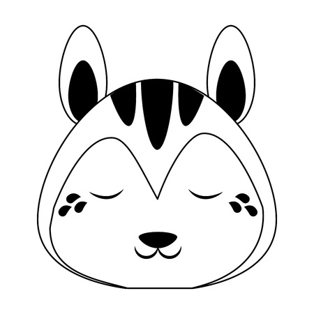 Cute squirrel crying animal cartoon vector illustration graphic design