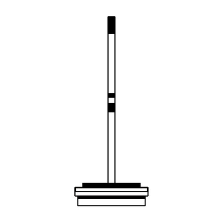 Curling broom extreme sport equipment vector illustration graphic design Ilustração