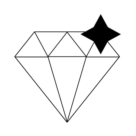 Diamond luxury rock symbol isolated vector illustration graphic design