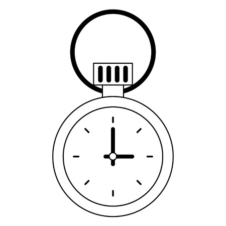 Chronometer time isolated symbol  vector illustration graphic design