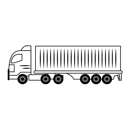 Cargo truck vehicle isolated vector illustration graphic design
