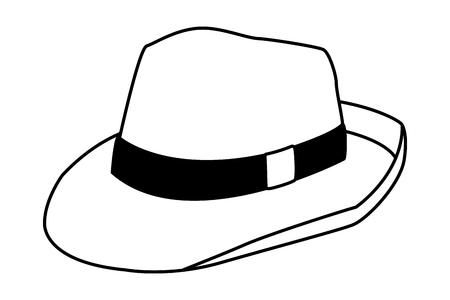 Women fashion summer hat cartoon vector illustration graphic design