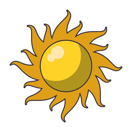 Sun cartoon over white background vector illustration graphic design