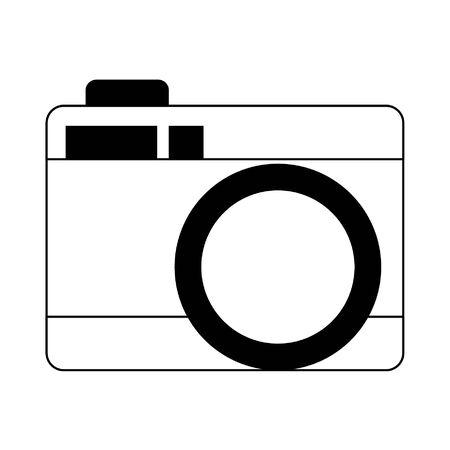 photographic camera icon cartoon vector illustration graphic design
