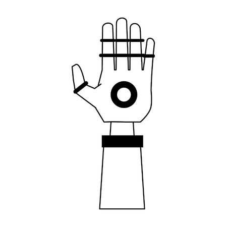Bionic robot hand technology vector illustration graphic design