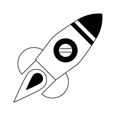 rocket icon cartoon isolated vector illustration graphic design Imagens - 124540976