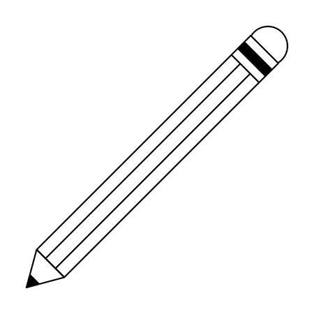 pencil icon cartoon isolated vector illustration graphic design Vetores