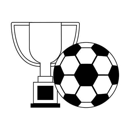 Diseño gráfico del ejemplo del vector de los dibujos animados del fútbol del campeonato del deporte